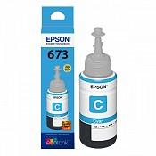 Hộp Mực in phun Epson T673 C - Màu Xanh - Hộp mực in Epson  L800/ L805/ L810 / L850/ L1800