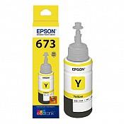 Hộp Mực in phun Epson T673 Y - Màu Vàng - Hộp mực in Epson L805/ L810 / L850/ L800/ L1800